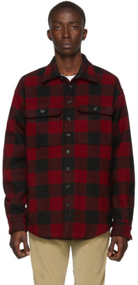 DSQUARED2 Red and Black Check Military Shirt