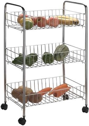 Apollo Chrome 3-Basket Vegetable Trolley