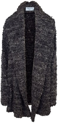 Haris Cotton Wool Blend Oversized Cardigan Anthracite