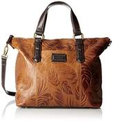 Tignanello Borought Palm Embossed Vintage Convertible Tote Bag