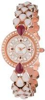Titan Women's 9747WM01 Theme Raga Theme Raga Intricate Jewelry Inspired Crystal Rose Gold Tone Watch