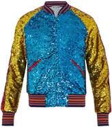 Gucci Sequin-embellished bomber jacket