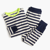 J.Crew Boys' pajama set in neon indigo stripe