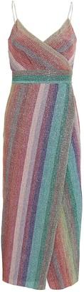 Saylor Meghan Lurex Wrap Dress