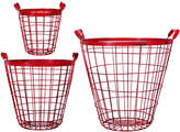 Home Essentials Metal Baskets (Set of 3)