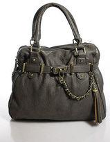 Steve Madden Gray Leather Satchel Handbag