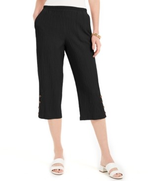 JM Collection Crinkle Capri Pants, Created for Macy's