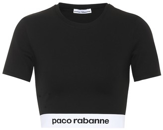 Paco Rabanne Jersey cropped top