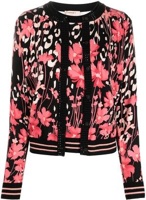 Twin-Set Floral Print Cardigan Set