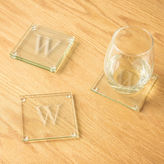 Accessories Cathy's Concepts Personalized Etched Set of 4 Monogram Glass Coasters