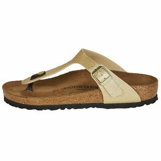 Birkenstock Tongs Gizeh Birko-flor Glitter Gold Womens Sandal