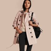 Burberry Cotton Gabardine Trench Coat , Size: 10, Pink