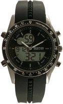 Kenneth Cole New York Men's Analog-Digital Black Silicone Strap Watch 45x53mm 10030989