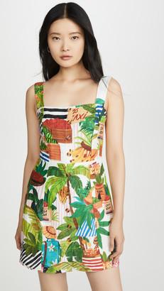 Farm Rio Tropical Fair Linen Mini Dress