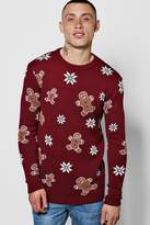 Boohoo Gingerbread Man Christmas Jumper