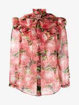 Gucci floral printed chiffon blouse