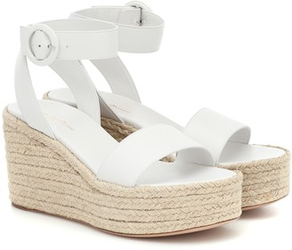 Gianvito Rossi Exclusive to Mytheresa a Billie 45 leather espadrille wedges