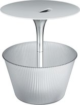 "Alessi Pick-Up"" Side Table/Magazine Stand In Chrome-Plated Zamak and Thermoplastic Resin"