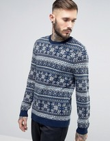 Asos Lambswool Rich Sweater with All Over Fairisle