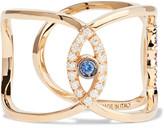 Delfina Delettrez 18-karat Gold Multi-stone Ring - 7