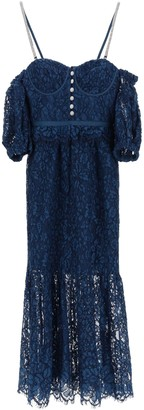 Self-Portrait Lace Dress With Balloon Sleeves