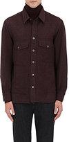 Isaia Men's Wool-Cashmere Overshirt-BURGUNDY