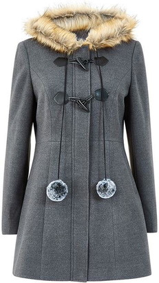 Yumi Grey Pocket Duffle Coat