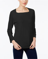 INC International Concepts Square-Neck Top, Only at Macy's