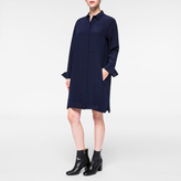 Paul Smith Women's Navy Silk Crêpe Shirt-Dress