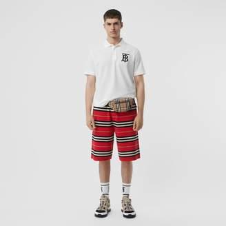 Burberry Monogram Motif Cotton Piqué Oversized Polo Shirt