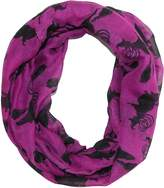 David & Young Women's Halloween Holiday Witch Silhouette Infinity Loop Scarf