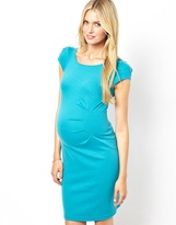 Thomas Laboratories Kate Maternity Body Con Dress With Ruch Detail