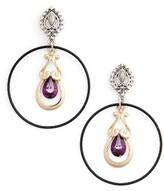 Topshop Women's Crystal Drop Hoop Earrings