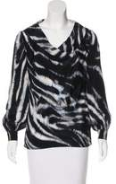 St. John Silk Printed Top