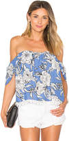Lovers + Friends Life's A Beach Top in Blue. - size L (also in M,S,XL,XS)