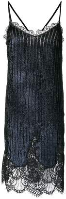 Semi-Couture Semicouture sequined lacework midi dress