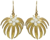 Annette Ferdinandsen Small Palm Earrings with Pearls - Yellow Gold