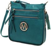 Mkf Collection By Mia K. MKF Collection by Mia K. Women's Handbags - Teal Expandable Tassel-Accent Crossbody Bag