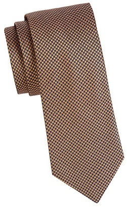 Saks Fifth Avenue Made In Italy Tonal Geometric Silk Tie