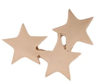 Kismet by Milka 14kt rose gold Struck Triple Star stud