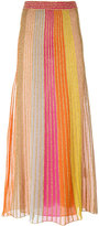 M Missoni metallic seaming maxi skirt - women - Cotton/Polyamide/Polyester - 42