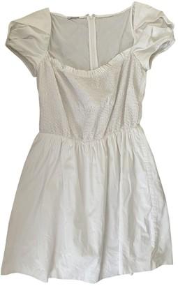 Miu Miu White Cotton Dresses