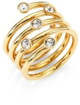 Michael Kors Brilliance Scatterd Crystal Wrap Ring