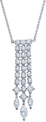 Crislu Silver & Platinum Cz Necklace