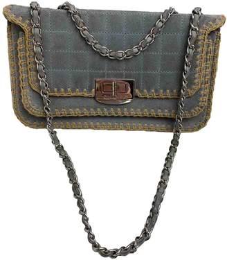 Chanel 2.55 Grey Suede Handbags