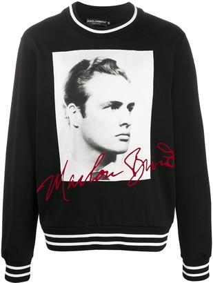 Dolce & Gabbana Marlon Brando print sweatshirt