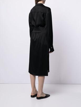 Proenza Schouler Hammered Satin Shirtdress