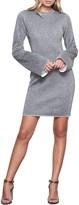 Good American Sparkle Bell Sleeve Body-Con Dress
