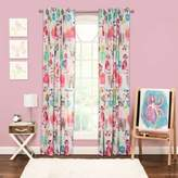 Crayola Purrty Cat 84-Inch Rod Pocket Window Curtain Panel in Pink/White