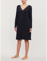 The White Company Lace Crossover stretch-jersey nightdress